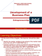 1. Development of a Business Plan