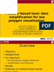 Feature-based laser data simplification for low polygon visualization