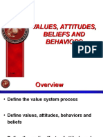 Values Attitudes and Behaviors[1]