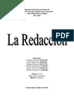 Trabajo Sobre La Redaccion (Lenguaje II)