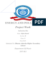 Energy and Pollution Dfs