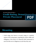 Credit Rating & Demat Issues