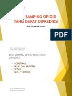 Efek Samping Opioid - Yang Dapat Diprediksi