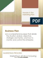 Module 3 the Marketing Plan