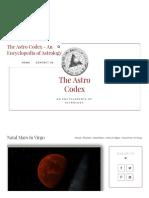 Natal Mars in Virgo • the Astro Codex