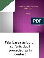 fabricarea acidului sulfuric