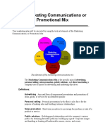 The Marketing Communications or Promotional Mix