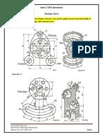 Auto CAD Lab Practice Set 6