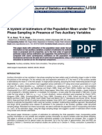 A System of Estimators of the Population Mean under Two-Phase Sampling in Presence of Two Auxiliary Variables