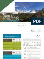 Tarifario Fantastico Sur 2018-2019 Extranjeros