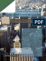 OKE, 2012 - Climate zones for urban temperature studies