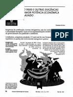 (Cicco, 1994) a Iso 9000 e Outras Exigências Da Maior Potência Econômica Do Mundo