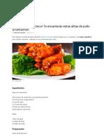 Alitas de Pollo Al Tamarindo