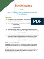 PUBLIC RELATIONS BA(JMC) NOTES