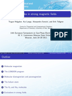 Molecules in Strong Magnetic Fields