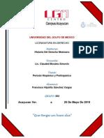 Ensayo Derecho Precortesiano y Hispanico
