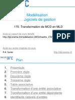 Passage Du MCD Au MLD