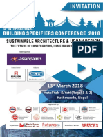 Invitation Building Specifiers Conference 1
