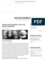 Curso de Teoria Sociológica 1 (2018.1), por Frédéric Vandenberghe _ Blog do Sociofilo