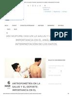 Antropometría en La Salud y El Deporte_ Importancia en El Análisis e Interpretación de Los Datos