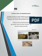 Canal Pampas de Las Sandias-Planteamiento Hidraulico