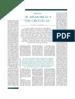 De Memorias y de Crónicas. Aranibar, Carlos