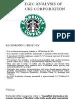 Strategic Analysis of Starbucks Corporation