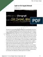 12 Short Paragraph on Sir Sayad Ahmad _ the College Study1100