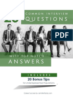 25 Common Interview Questions With Top Notch Answers