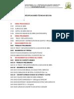 ESPECIFICACIONES TECNICAS DE PROYECTO DE GAVIONES