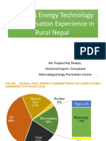 PRS_Biomass Energy Technology Experience in Rural