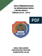 RPJMdes Desa Wailawar 2019 LENGKAP