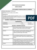 Formato Seguridad Quimica