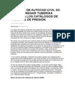 Consejo de Autocad Civil 3d