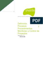 Monitoreo y Control de Proyectos (PMC)-Definición de Procesos y Procedimientos