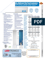LEDtronics Color Tuning LED Flat Panel Light Fixture