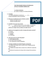 Cuestionario Para Examen Parcial de Hidraulica