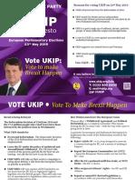 UKIP EU Manifesto 2019 - CORREX A1
