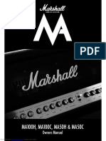 MARSHALL ma100c USER MANUAL