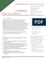 Engl216 Professional Writing Spring18