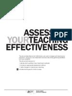 5.2 Assessing Teaching Effectiveness
