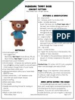 Amigurumi Teddy Bear Pattern