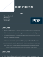 Cyber Security Policy in Pakistan