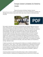 Autoridades Do Amapá Visitam Unidades Do Sistema Fecomércio No Estado - Sesc Amapá