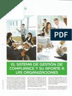 El sistema de gestión de compliance y su aporte a las organizaciones