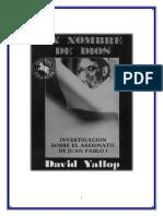 David Yallop-En Nombre de Dios, Juan Pablo I