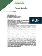 Plan de Negocios de Infoservig Eirl
