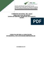 Curso Taller de Desarrollo de Capacidades Empresariales