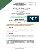 Guia Aspirantes Transferencia Externa Pregrado Centros Regionales 2019 2
