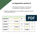 Evaluación Diagnostica Química II